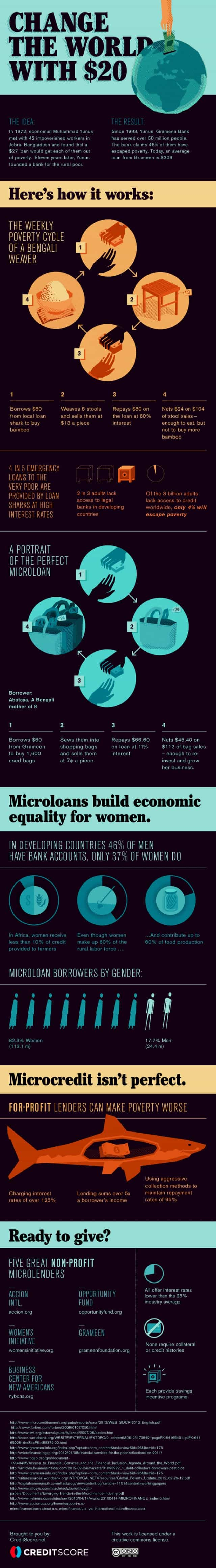 Change the World with $20: Microloans [infographic]
