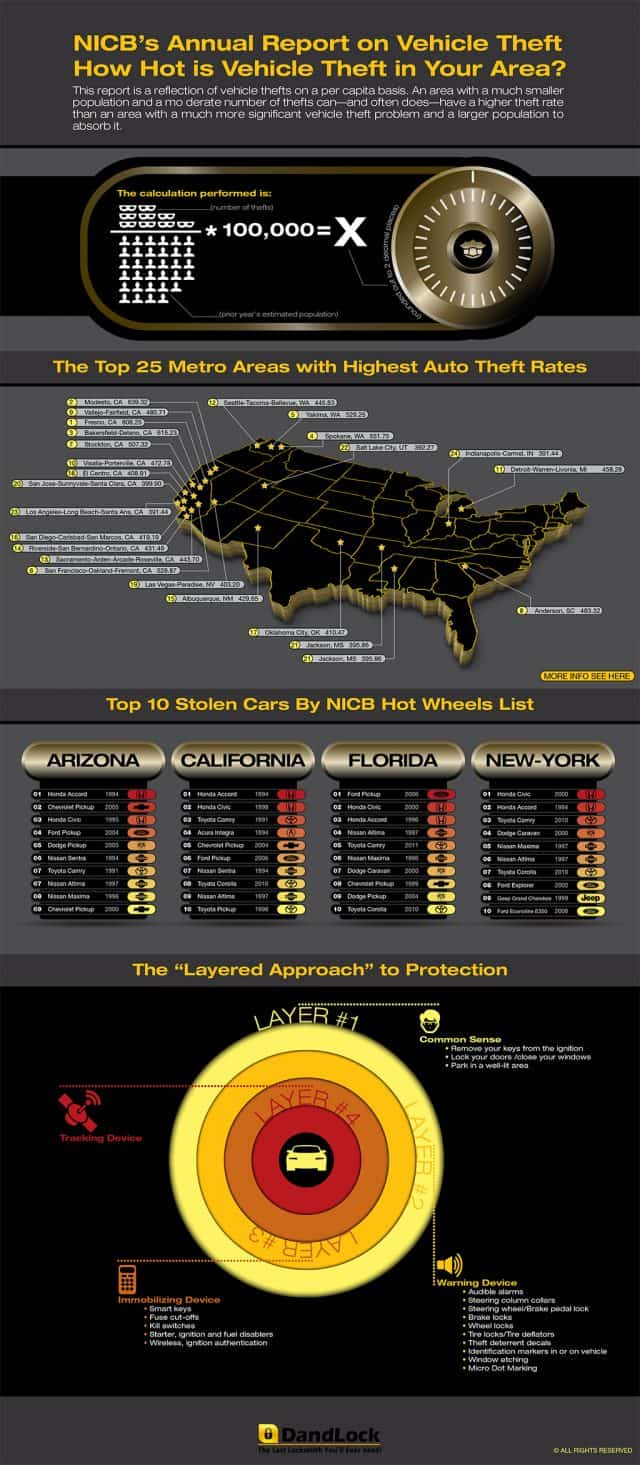 Vehicle Theft Daily Infographic