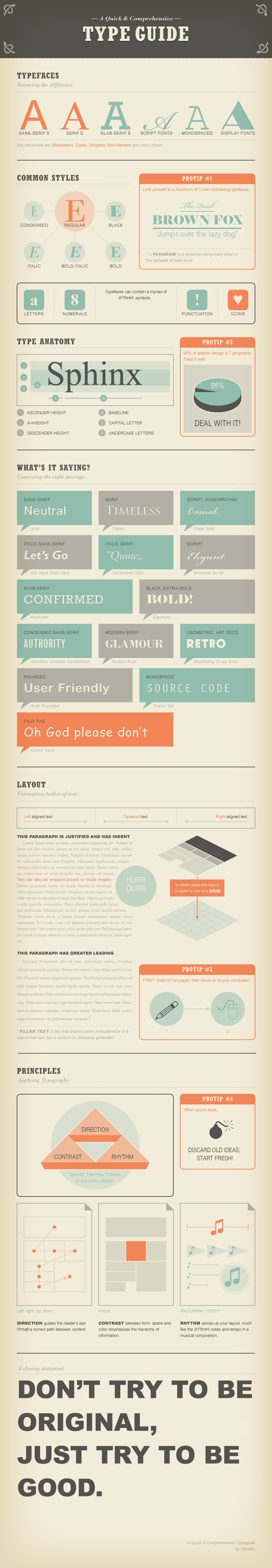 a quick and comprehensive type guide infographic daily infographic