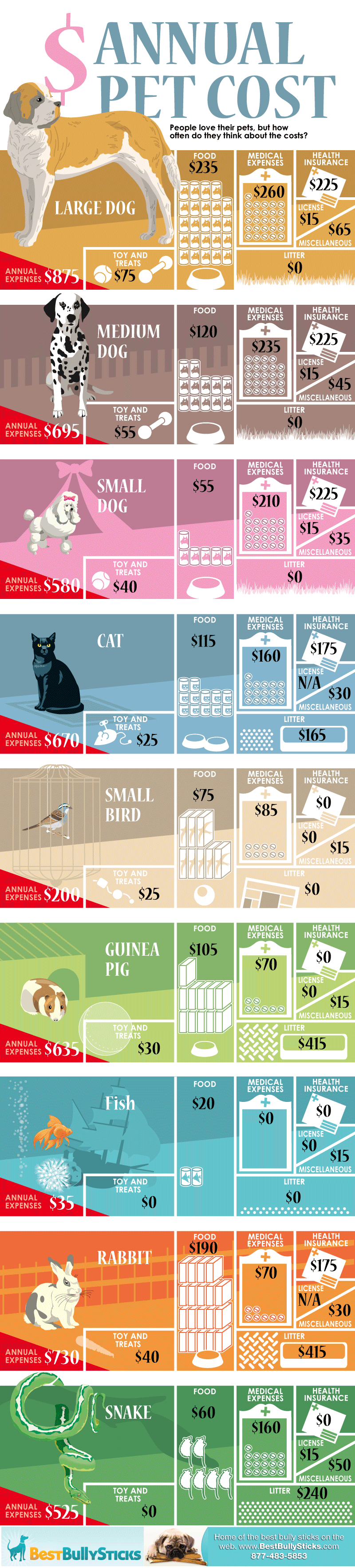 Annual Cost of Pets [Infographic]