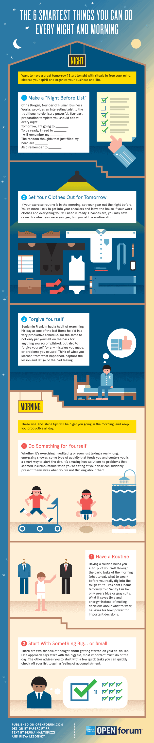The Six Smartest Things You Can Do Every Night And Morning [infographic]