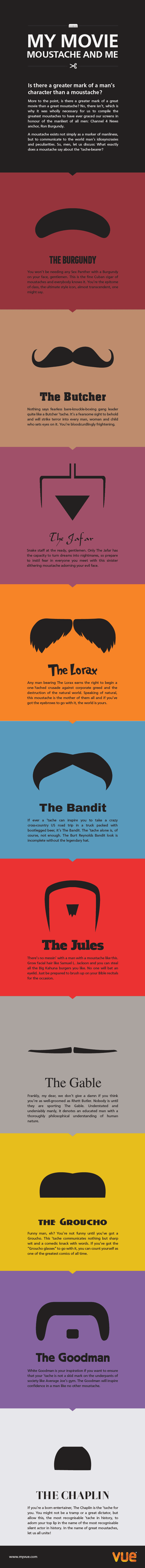 My Movie Moustache and Me [infographic]