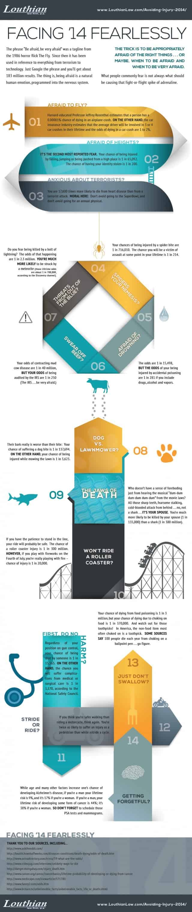 Facing 2014 Fearlessly [infographic]