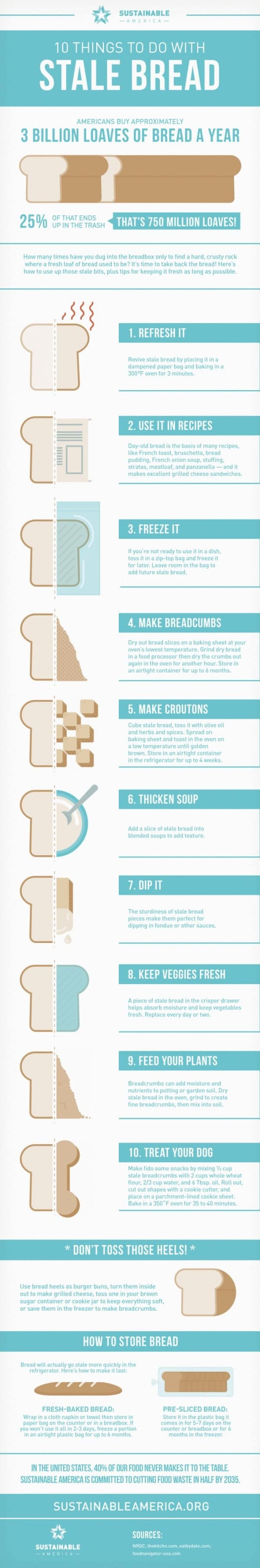 10 Things To Do With Stale Bread [infographic]