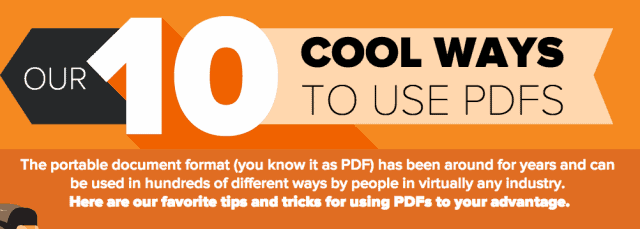 10 Cool Ways To Use Pdfs Infographic Daily Infographic