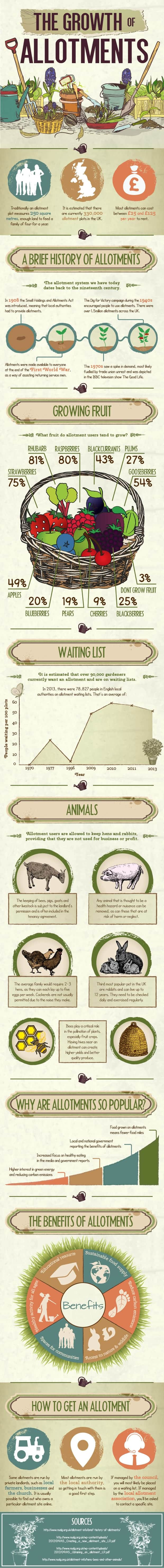 The Growth of Allotments [infographic]