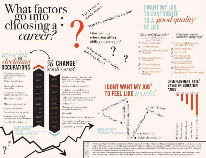 Choosing a Career Infographic