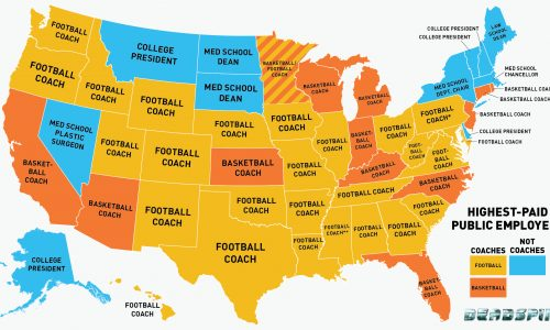 Highest Paid Public Employee Infographic