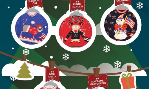12 Days of Ugly Christmas Sweaters Infographic