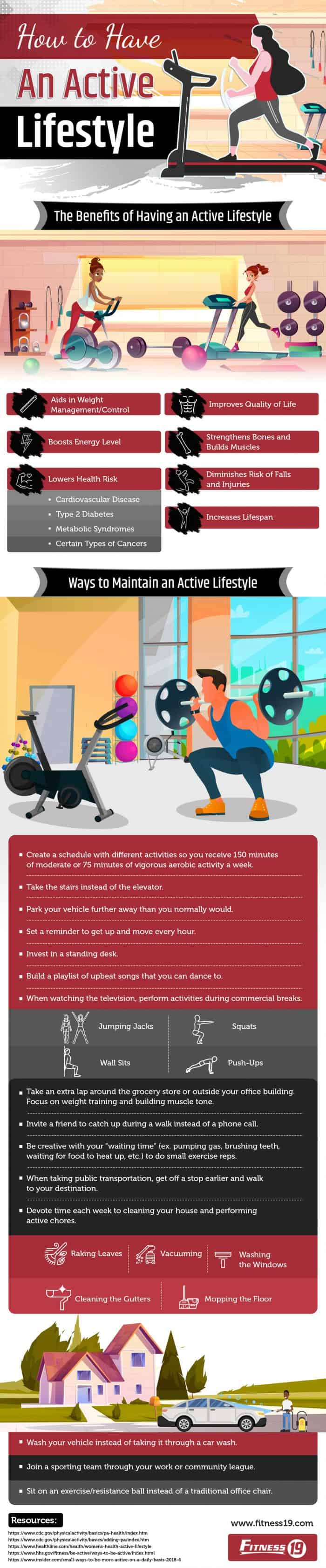 How to achieve an active lifestyle